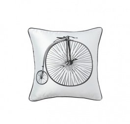 Подушка с ретро-велосипедом Retro Bicycle White