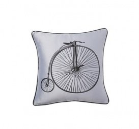 Подушка с ретро-велосипедом Retro Bicycle Grey