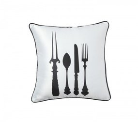 Подушка со столовыми приборами Tableware White