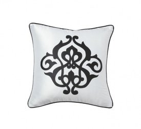 Подушка с геральдическими лилиями  Fleur de Lys White I