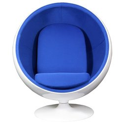 Кресло Eero Ball Chair Синее